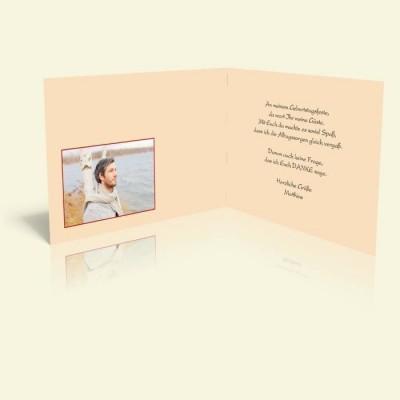 Danksagungskarte zum Geburtstag - Lilienmuster