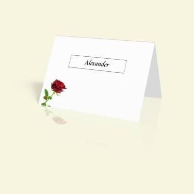 Tischkarte Rote Rose
