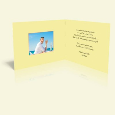 Danksagungskarte zum Geburtstag - Sommer