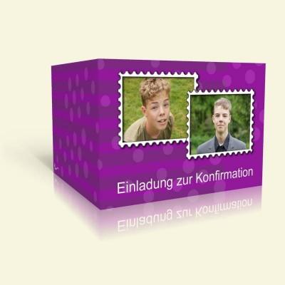 Briefmarkenrahmen auf lila
