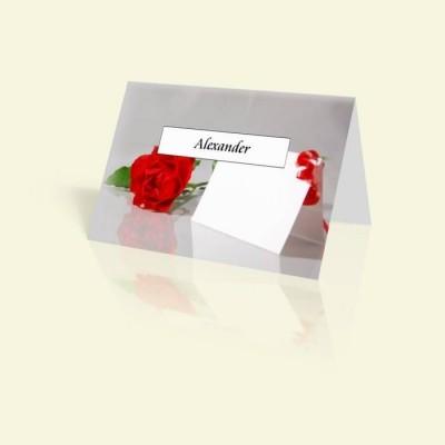 """Tischkarte """"Tischkarte mit Rosen"""""""