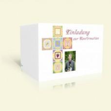 Einladung Konfirmation Symbolkreuz