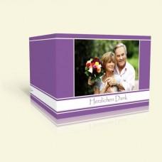 Danksagungskarte zur Goldenen Hochzeit - Lila