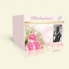 Einladung Silberhochzeit Pink Rose