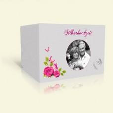 Einladung zur Silberhochzeit Rosenranke