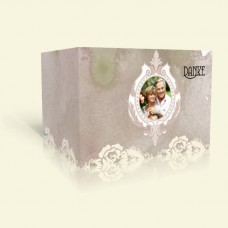 Dankeskarte Silberhochzeit - Rosenspitze