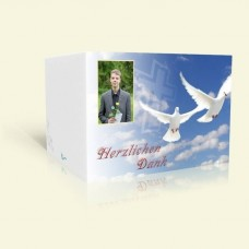 Danksagung Konfirmation Weiße Tauben im Himmel