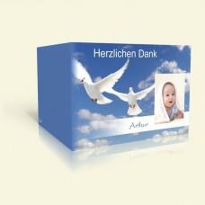 Danksagungskarte zur Taufe Tauben